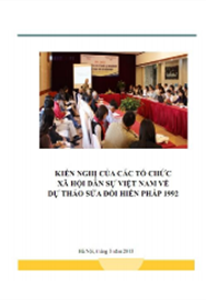 Kiến nghị của các tổ chức xã hội dân sự Việt Nam về dự thảo sửa đổi hiến pháp 1992