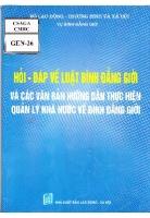Hỏi - Đáp về luật Bình đẳng giới và Các văn bản hướng dẫn thực hiện quản lý nhà nước về Bình đẳng giới