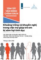 Khoảng trống và khuyến nghị trong việc trợ giúp trẻ em bị xâm hại tình dục